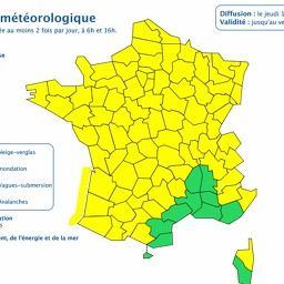 see France's severe weather alerts map (winds, storm, flood)
