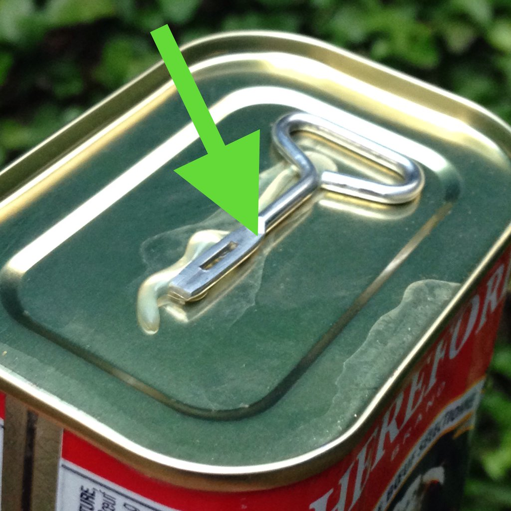 Take off the can opener