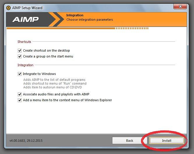 """Cliquez sur """"installer"""""""