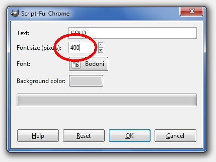 Enter font size