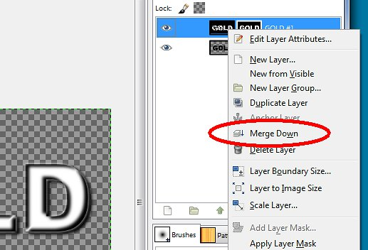 Merge layers