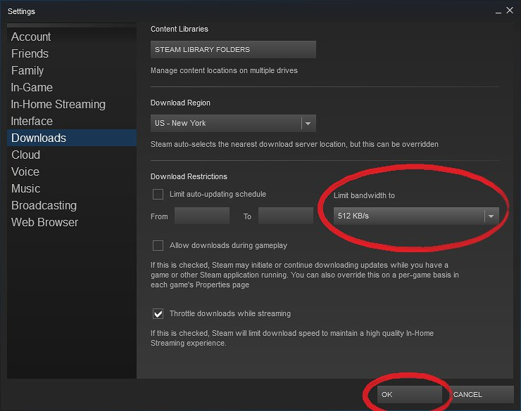 How To Limit Steam Download Speed