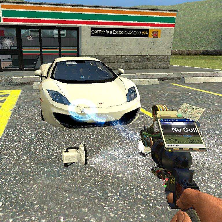 Left click the car