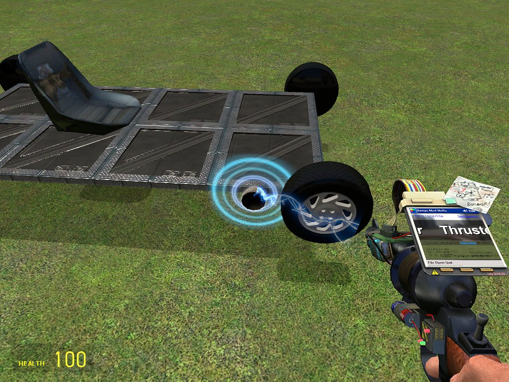 Add thruster at the right of the car