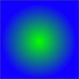 make a radial color gradient
