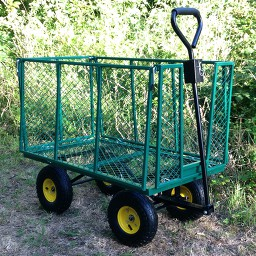 monter le charriot de transport de jardin TecTake XXL