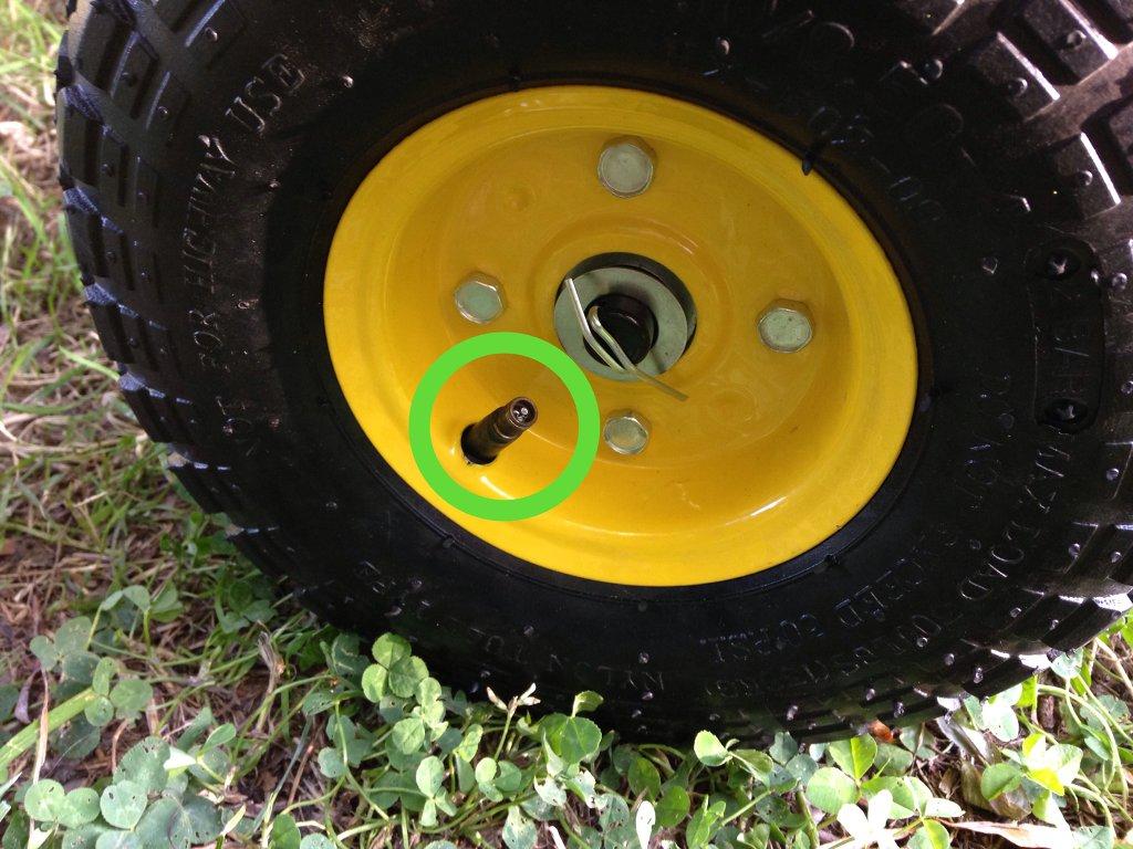 Gonflez les pneus