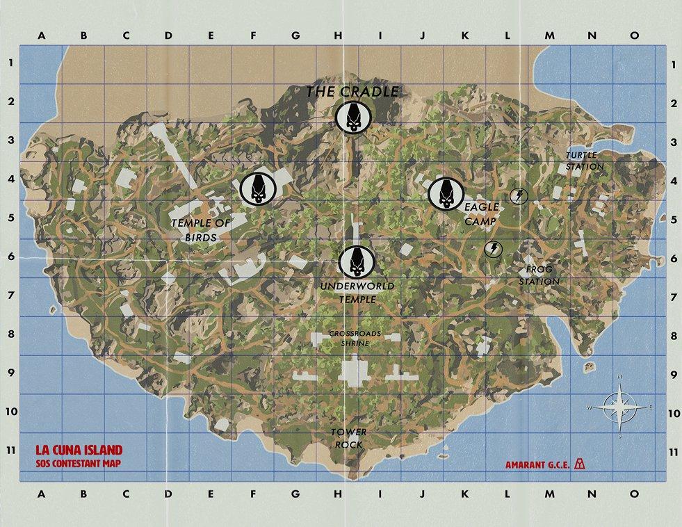 Ouvrez la carte de l'île SOS