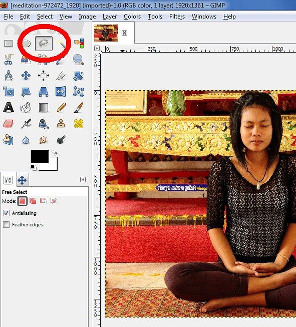 Click Lasso tool