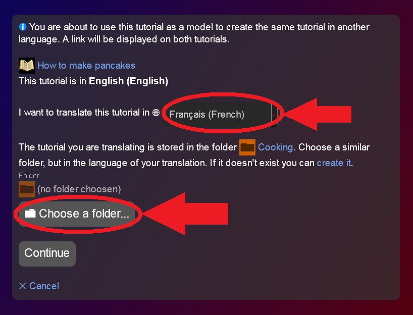 Choose language and category