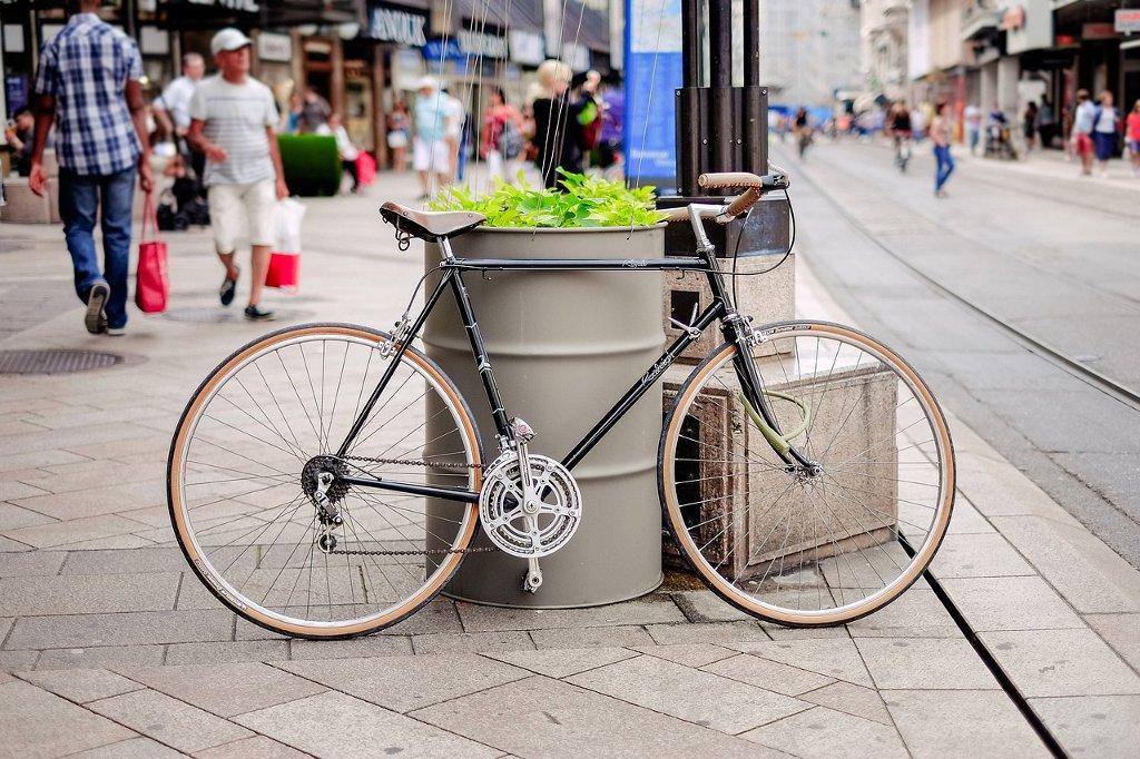 Allez prendre le pain en vélo