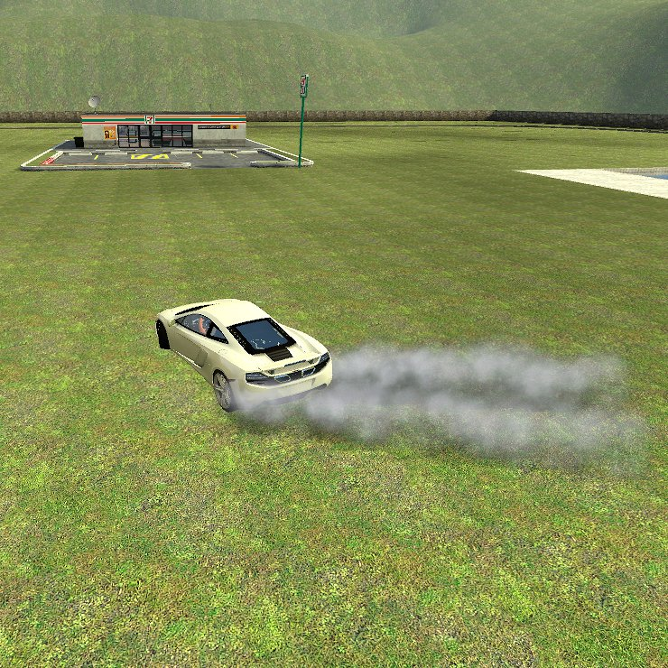 That's it! Now each time that you use the e-brakes, the rear tires will produce smoke! Share, Like, Comment!