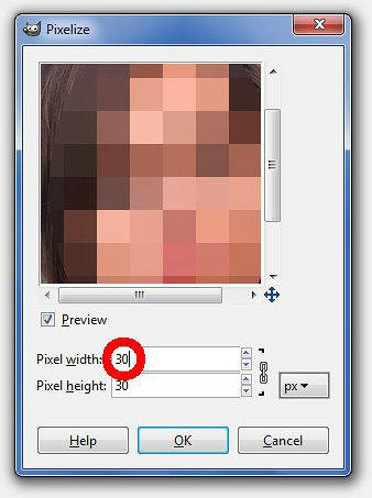 Choose size of pixels