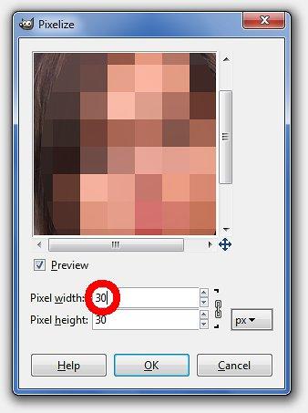 Choisissez la taille des pixels