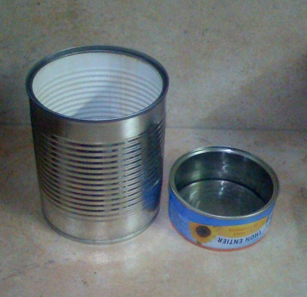 Empty and clean up food cans